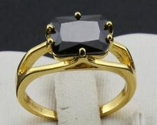 Cubic Zirconia Yellow Gold 14k Engagement Rings