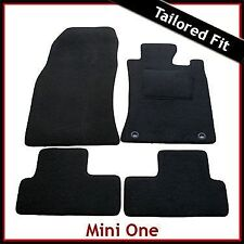Mini One / Cooper Mk1 R50 R53 2001-2006 2-Clips Tailored Carpet Mats BLACK