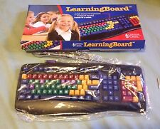 Chester Creek Learning Board Children's Keyboard, PS/2, USB - Color Coded - New