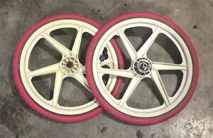 "OGK GT Performer 20"" Mags Suntour BMX Freewheel Pink LHR Leo Freestyle Tires Pro"
