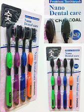 New dental high qulity dual-mode soft toothbrush Charcoal premium  4PCS nano