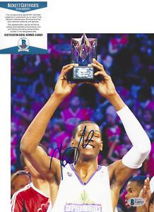 KEVIN DURANT BROOKLYN NETS SIGNED AUTHENTIC 8x10 PHOTO NBA BECKETT COA BAS