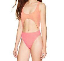 ea1dcf9728 Reef Women's Swimsuit Size XS Splash Two Tone Orange Corral One Piece Cutout
