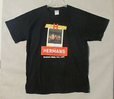 S5599 The Hermans Stalking America Black Adult Large Tour T-Shirt With Dates