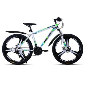 "Double Disc Brake Mountain Bike Bicycle 21Speed Aluminum Suspension 26"" FEDEX Sh"