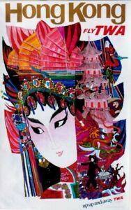 Original vintage poster HONG KONG CHINESE LADY TWA c.1960 Klein