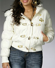 *NWT DEREON D's Classic Wool Coat Jacket gold stone CREAM 1X 14 16 PLUS SIZE