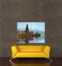 Impression photo poster géant de la culture de Bali Indonésie Temple lac montagne pamp112