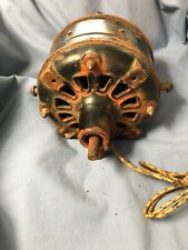 Small Westinghouse 110V AC Electric Fan Bipolar Vintage Antique Open Frame Motor