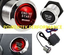 PIVOT ILLUMINATED RED PUSH BUTTON ENGINE START KIT  12 volt VW.FORD.VAUXHALL