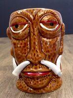 TIKI MUG Mr Bali Hai Large Oversized Polynesian Luau Pint Mug Hawaiian Warrior