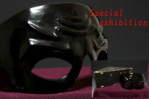 Japan Antique Edo menpo yoroi Kabuto mask Armor koshirae katana samurai Busho 武将