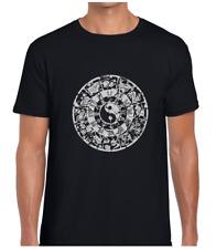 Antiguo Zodiaco chino para hombre Camiseta Camiseta Yin Yang Yoga Espiritual Diseño Mandala