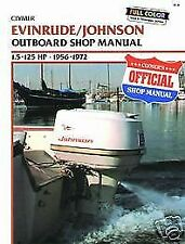 B734 Johnson Evinrude 1.5-125hp 1956-1972 Outboard Service Repair Shop Manual