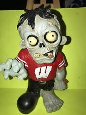 Pre-owned ~ Ncaa Wisconsin Badgers Resin Zombie Football Player (Forever, 8 1/5""