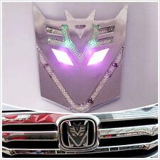 Transformers Decepticon Emblem Solar Power LED Flash Strobe Warning Lamp Sticker
