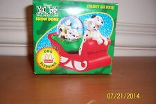 Disney Mcdonalds 101 Dalmations Snow Globe Sleigh ©1996