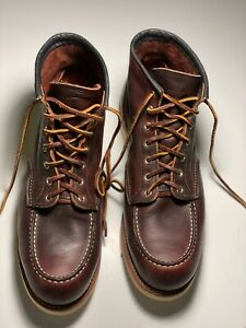 RED WING 8138 Classic Moc Toe Briar Oil Slick Boots   Size US 12 D   Made in USA