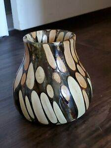 5.5 Inch Wood And Resin Vase
