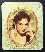 Jarmila Novotna 1934 Garbaty Film Star Series 1 Embossed Cigarette Card #64