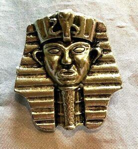 Vintage Brooch Pharoah Egypt Silver Tone Lovely UK Seller