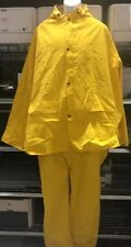 Rain Suit Jacket Bright Yellow w/ overall pants Size 3XL, 10-710