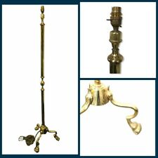 Vintage Brass Metal Floor Lamp Claw Feet Traditional Regal Gold Retro VGC 5ft