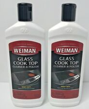 Weiman Glass Cook Top Heavy Duty Cleaner & Polish 15 oz each - 2 Pack NEW