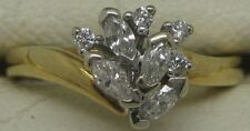 Diamond Cluster Yellow Gold Natural Fine Rings