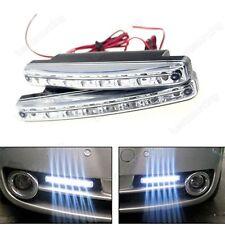 2x 8 LED Auto Nebelscheinwerfer Tagfahrlicht Lampe Tagfahrlicher DRL Weiß 7000K