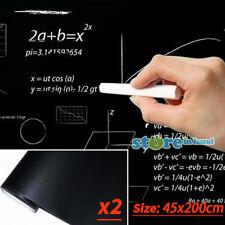 2X Blackboard Wall Sticker 45 x 200cm Large Board Removable Chalkboard Decal AU