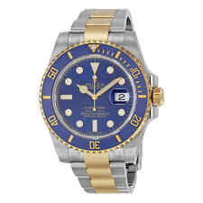 Rolex Submariner Blue Dial Stainless Steel and 18K Yellow Gold Bracelet