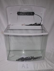 Brand New White Ecological Fish Tank Aquarium 70L With Built in LED Light & Pump