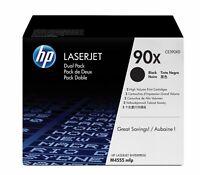 Genuine HP 90X Black High Yield Toner Cartridge 2-Pack CE390XD
