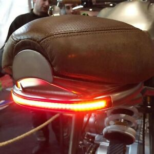 🇮🇹 FARO POST. STOP 48 LED STRISCIA  FRECCE INTEGRATE MOTO CAFE RACER CUSTOM