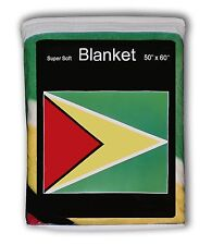 Guyana Flag Fleece Blanket *New* The Golden Arrowhead Travel Throw Cover L@K