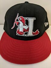 Hickory Crawdads New Era Minor League Fitted Hat 7 1/4