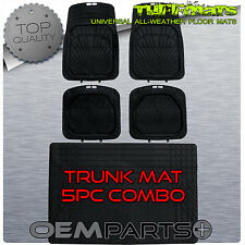 FLOOR MATS Combo with TRUNK Liner SEDANS and COUPES Trim Fit 4Dr 2Dr Rugged TUFF
