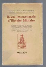 REVUE INTERNATIONALE D'HISTOIRE MILITAIRE  1939 N°1-2