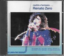 """RENATO ZERO - RARO CD FUORI CATALOGO 1991 """" REALTA' E FANTASIA """""""