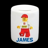 Personalised Lego Money Box Piggy Bank Boy Child Kids Birthday Christmas