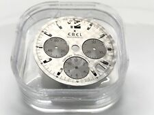 New Ebel 1911 Dial  9137241 / 266SL Silver 3 Sub Dial Automatic Date Chronograph