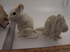Vintage Porcelain Figurine Lot- Hallmark Little Gallery Sheep Dog & White Mouse