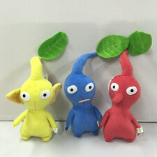 "NEW set of 3 PIKMIN  8"" Red/Blue/Yellow LEAF STUFFED PLUSH Stuffed Animal"