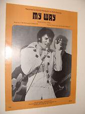 Elvis Presley cover My Way by Paul Anka, Revaux, Francois 1969