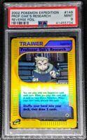 2002 Pokemon Expedition Prof. Oak's Research Reverse Foil PSA 9 Mint POP 8