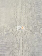 CROCODILE MARINE VINYL FABRIC UPHOLSTERY-AUTO-BOAT AQUAGUARD®/Cool Silver