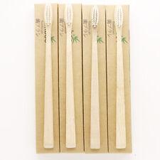 Bamboo Toothbrush Manual Toothbrush Soft Toothbrush pack of 4