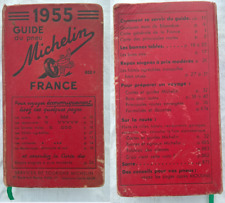 Guide rouge MICHELIN de 1955 en bon état