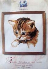 counted cross stitch kit blue eyed  cat kitten VERVACO verachtert  belgium new
